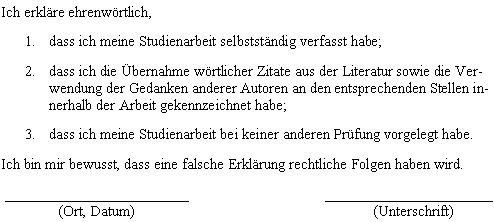 Formaler Aufbau Diplom Reader Holger Matthes