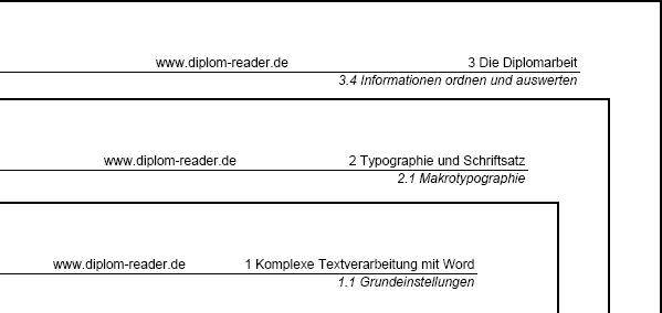 Kopf Und Fußzeile Diplom Reader Holger Matthes